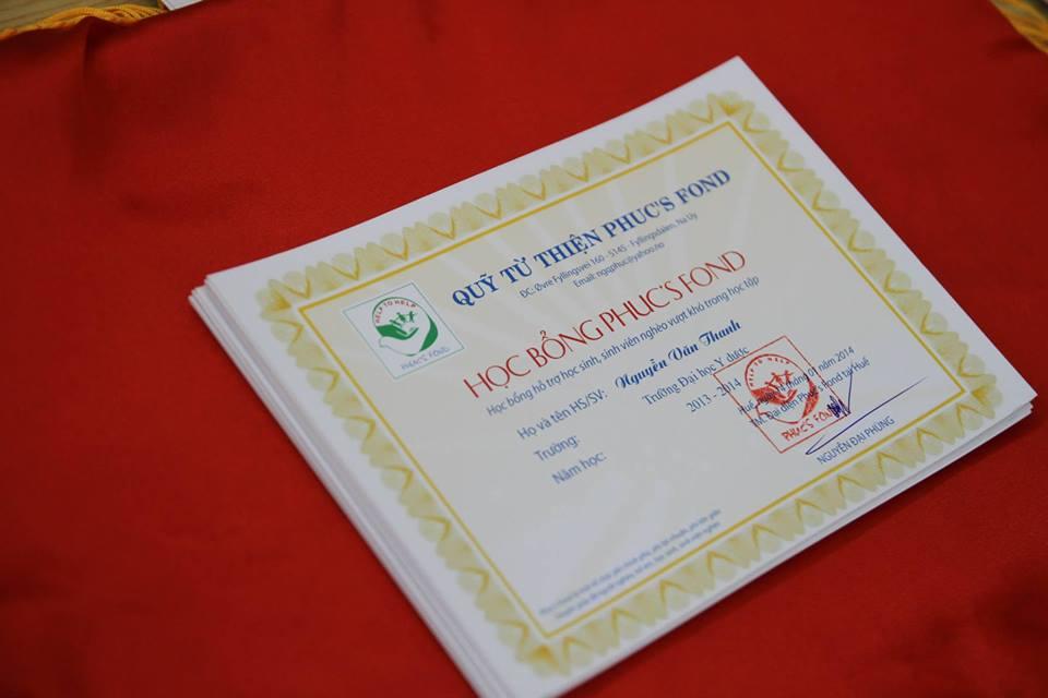 Học bổng Phuc's Fond